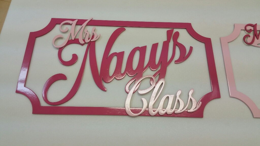 Laser Cut Teacher Appreciation Sign