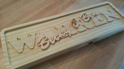 Stacked Text Family Name Sign