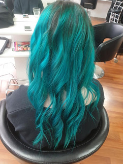 Teal Hair by Kutting Kapers
