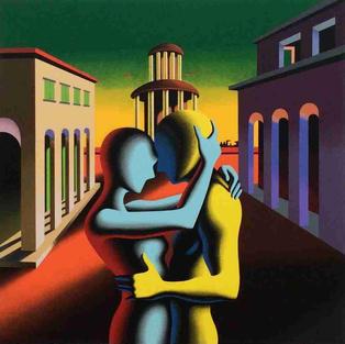 Mark-Kostabi-TheArtBank-Gallery-twilight