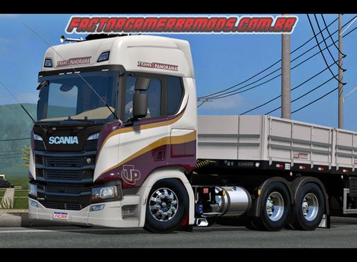 Download Skin Trans Panorama para Scania NTG  R e S para Ets2 V.1.36.x