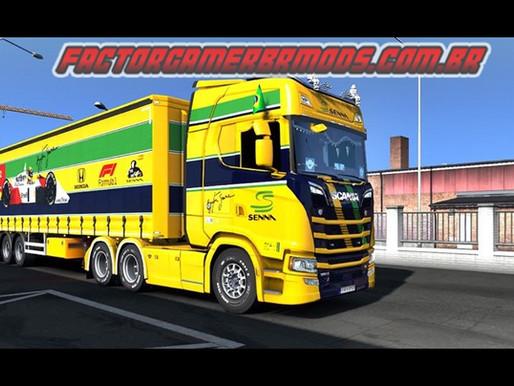 Download  Combo Skins Ayrton Senna para Scania NTG e Reboque scs para Ets2  V.1.36.x e V.1.37.x