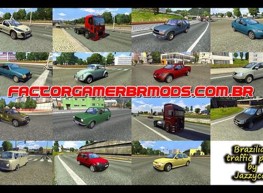 Download  Pack de Carros e Ônibus Brasileiros V.2.6.1 Para o Tráfego Para V.1.38.X By Jazzycat