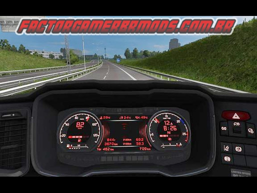 Download Novos painéis Melhorados (dashboard) para Scania NTG R e S para Ets2 V.1.36.x