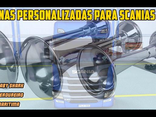 Download Novas Buzinas a AR Personalizadas para Scania NTG para Ets2 1.42.x