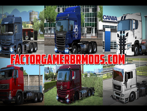 Download Pack de Trucks Estilo BR Para Ets2  V.1.37.X