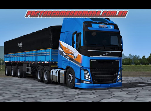 Download  SKIN Volvo FH Space Edition  para Ets2  V.1.36.x e V.1.37.x