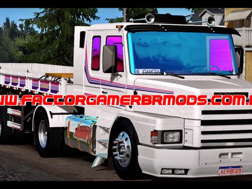 Download Scania 112H + Carretinha 2  Eixos Bruno Garcia Versão Branca para  Ets2 V. 1.37.x e 1.38.x