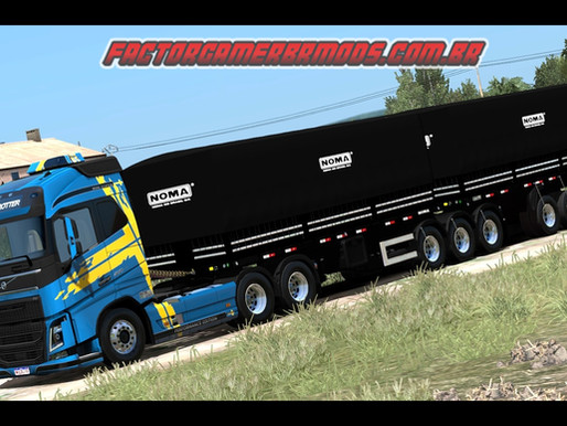 Download Conjunto Volvo FH Edit BR+ Bitrem Curto Noma  para Ets2 V.1.37.x