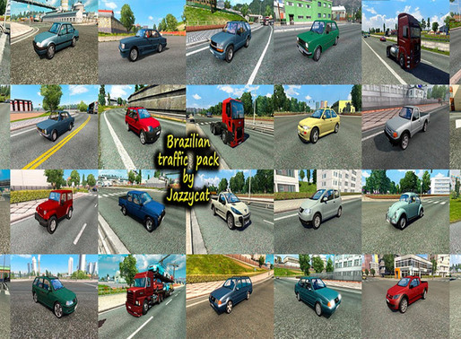 Download Pack de Tráfego de veículos  Brasileiros para Ets2 V.1.36.x