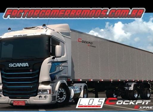 Download  Combo de Skins da Cockpit Express para Scania RJL e Reboque South para Ets2  V.1.36.x