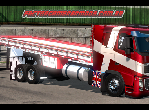 Download Volvo Fh16 Truck Carroceria (Livre Edit)  Ets2 V. 1.36.x