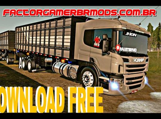 Download Scania P340 Boiadeira + Julieta Primeiro  Romeu e Julieta  Ets2 1.38.x, 1.37.x