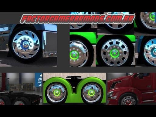 Download Pack de Rodas Alcoas Huge V2.0 Para Caminhões American truck Simulator Ets2 V. 1.35.x