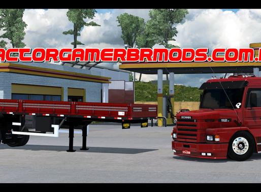 Download Conjunto  Scania 112h + 2  Eixo Bruno Garcia para Ets2 1.37x e  1.38.x