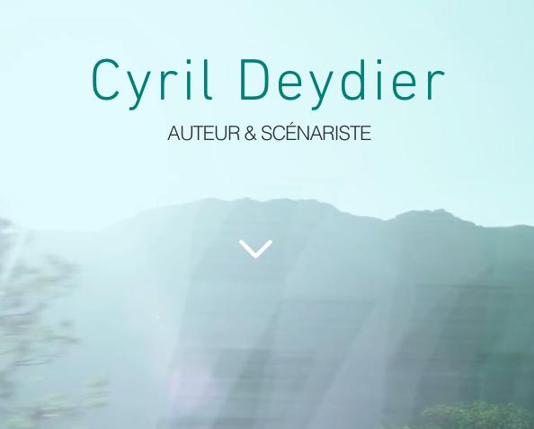 Cyril Deydier Auteur et Scénariste