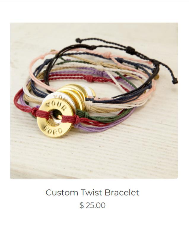 Custom Twist Bracelet