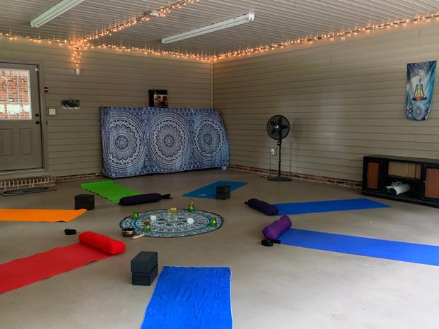 Inside yoga space