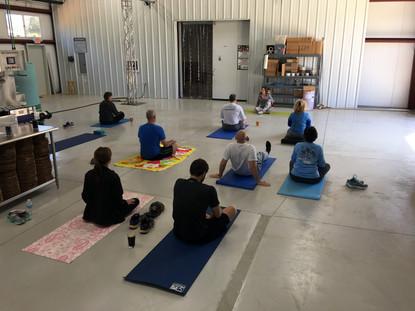 Beer Yoga Saturday mornings