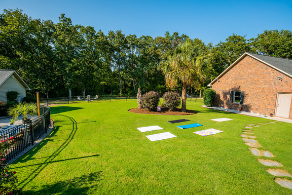 Space for outside Yoga & other activites