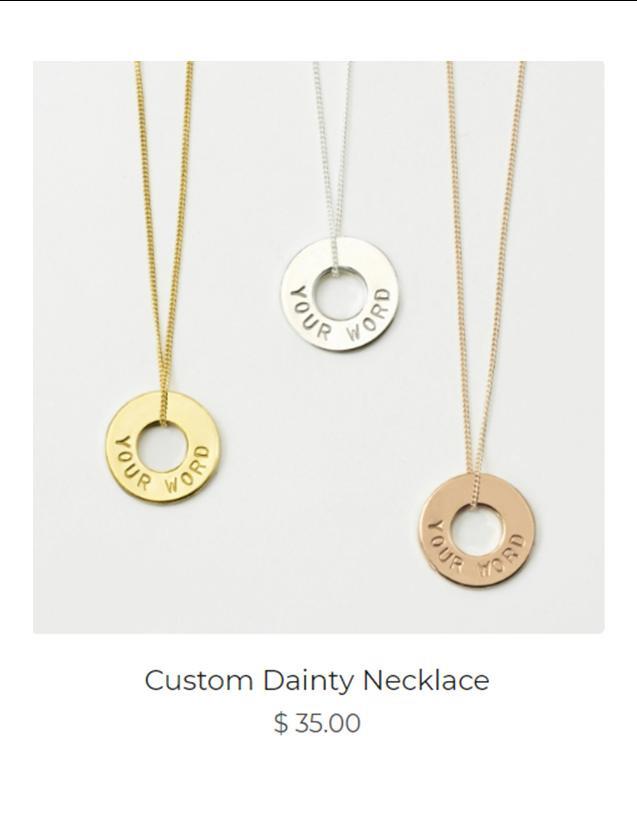 Custom Dainty Necklaces
