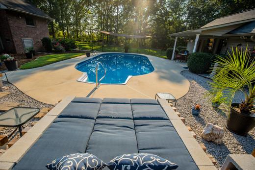 Pool lounge area