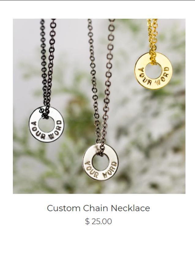Custom Chain Necklace