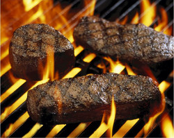 1 Three Steaks on Grill1