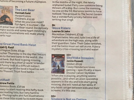 Lovely mini review in the i newspaper