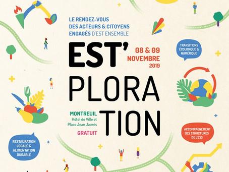 Est'ploration, impact positif !  Rdv les 8 et 9 novembre à la Mairie de Montreuil