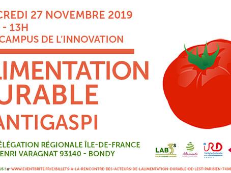 27 novembre, rencontre sur l'alimentation durable dans l'est parisien