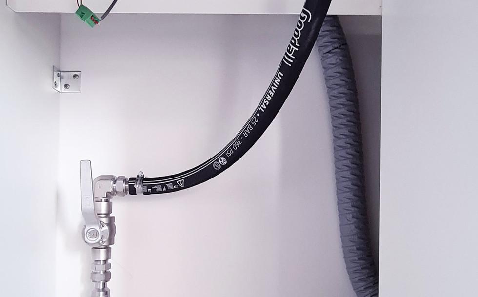 Verbindung zur Abflussleitung