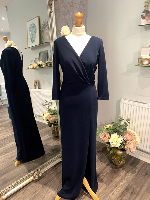 Dessy 6797. Midnight stretch crepe                   One Only