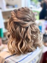 Boho bridesmaids hair half up