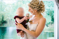 Curly wedding updo hair up