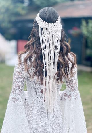 Boho bridal hair Hertfordshire