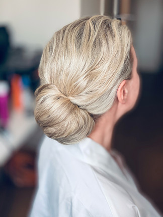 Classic textured hair up