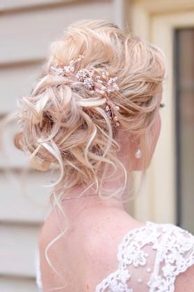 Curly bridal updo hair up