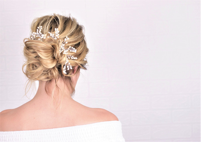 romantic boho wedding hair