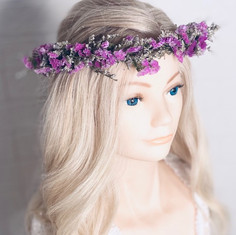 'Bonnie' dried flower crown