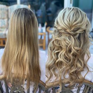 curly bridesmaids hair