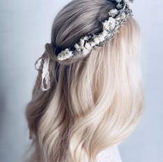 'Faline' dried flower crown