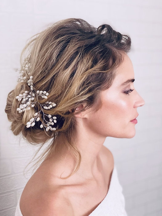 romantic wedding hair and makeup