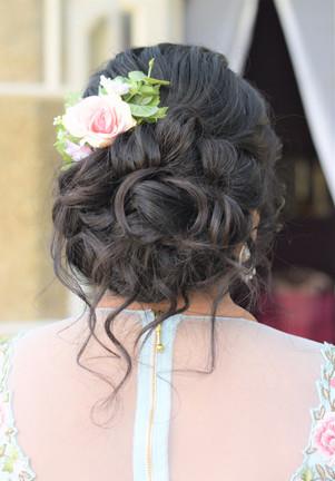 Beautiful updo bridal hair