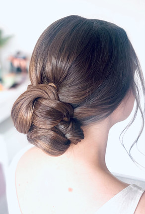 Classic natural hair up