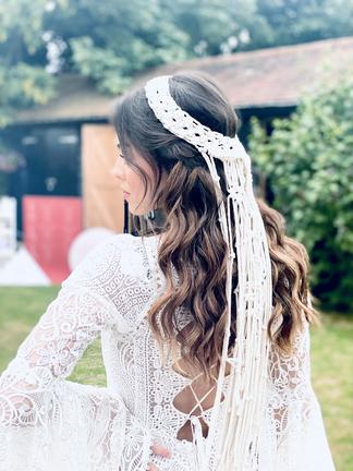 Boho relaxed wave bridal hair
