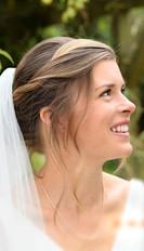 Natural and romantic bridal hair and makeup