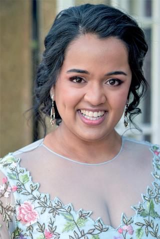 Soft glam Indian wedding makeup