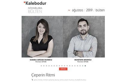 Kalebodur'un, Mimarlara Bülten kapsamında CM² Mimarlık ve Tasarım Stüdyosu ile gerçekleştirdiği röportaj yayında.