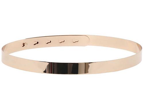 Brautgürtel Metallgürtel Metallspange Gold 2cm breit Größenverstellbar